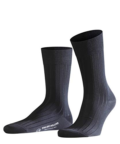 FALKE Milano Chaussettes Homme Bleu (Dark Navy 6370) 41/42 (Taille fabricant:41-42)