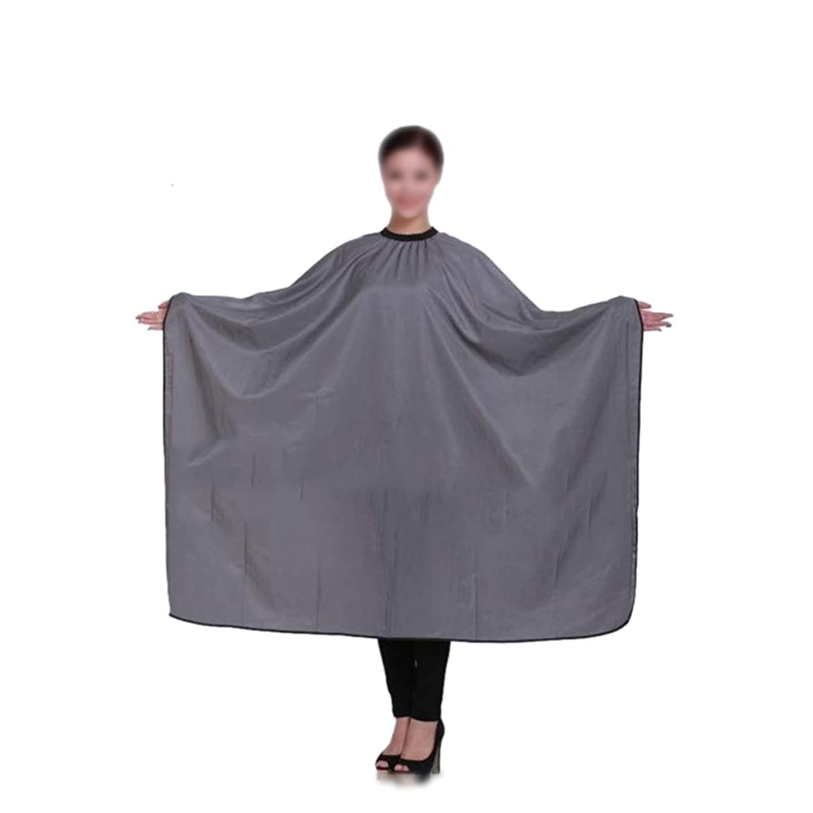 Xingfuzhijia 灰色の大広間のヘアカットのエプロン、毛の切断の防水布のスタイリングドレス