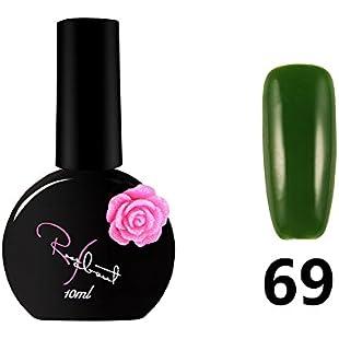 Rose Nail Polish Glue 10ML Nail Polish Art Nail Gel(2) (#I):Cryptools
