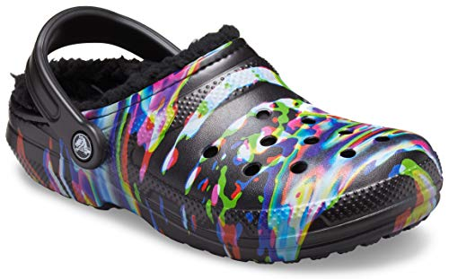 Crocs Men#039s and Women#039s Classic Tie Dye Lined Clog | Warm and Fuzzy Slippers