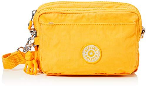 Kipling Damen Abanu Multi Umhängetasche, Gelb (Vivid Yellow), 19x13x8 cm