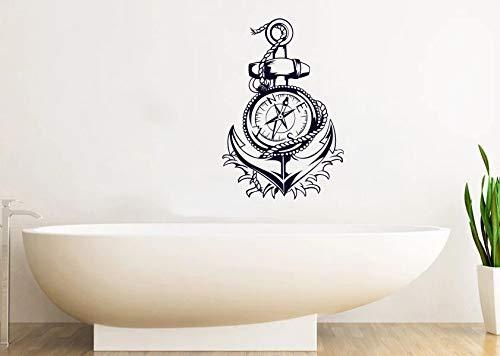 with Compass Vinyl Wall Sticker Bathroom Finger Anchor Home Beach Ocean Art