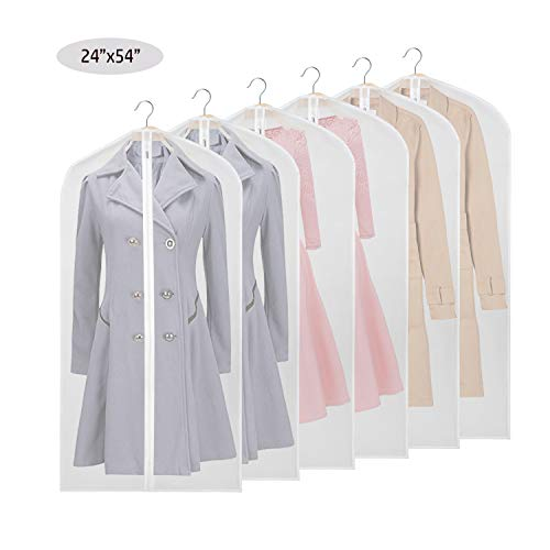 Sac de Rangement Robe et Manteau KEEGH Garder Housses de v/êtements Protection Anti-Mites Pliable Costume l/éger Lavable pour Robe Longue 3pack 54-Non-Woven