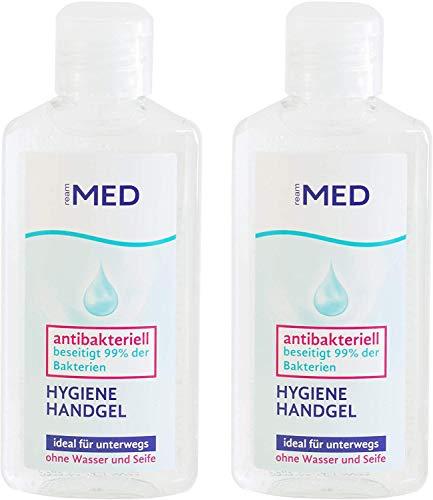 Ream Med - Hygiene Handgel - Desinfektion der Hände, entfernt 99% der Bakterien 2er Set (2x100ml)
