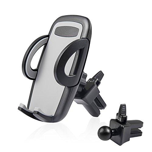 Soporte de Teléfono Móvil para Coche,Soporte Móvil Coche Soporte Celular Universal Rejilla Ventilación con Rotación y Abrazadera Ajustable para iPhone 11 XS/XR/X Samsung S10/S9/S8 Huawei P30pro