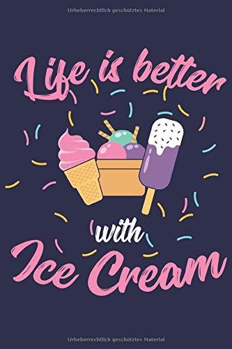 Eis Creme Notizbuch: Ein Geschenk für Eiscreme Liebhaber