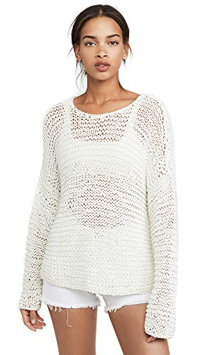 MIKOH Women's Mehetia Long Sleeve Knit, Bone, Off White, 3