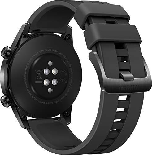 HUAWEI Watch GT 2 Smartwatch (46mm, OLED Touch-Display, Fitness Uhr mit Herzfrequenz-Messung, Musik Wiedergabe & Bluetooth Telefonie, 5ATM wasserdicht) matte black - 4