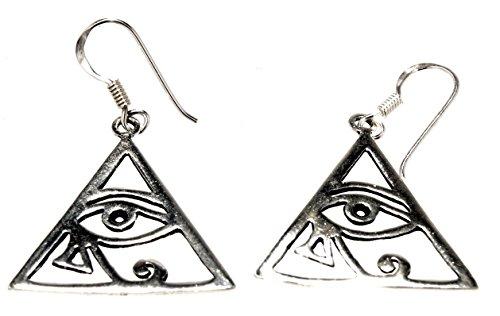 Pendientes de ojo del Horus, de plata de ley 925, n.º 15