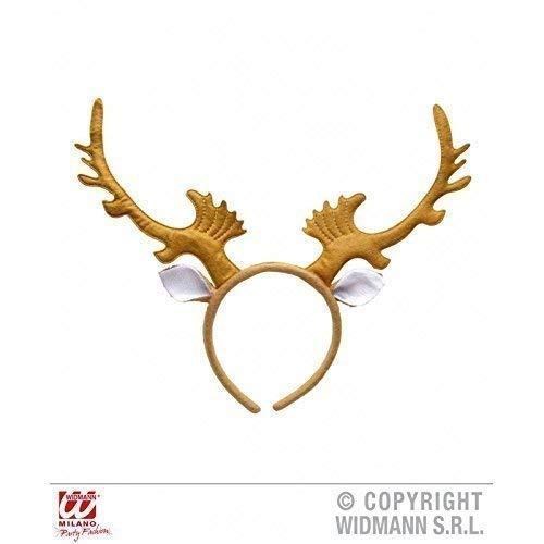 Niedlicher Weihnachts - Haarreif - Renntier mit Ohren in hellbraun / Renntiergeweih