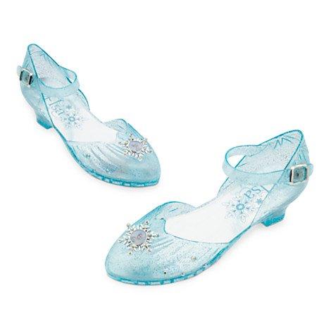Elsa Light-Up Costume de Chaussures enfant, inspiré par Elsa de Frozen, talon Lumière-up, taille UK 13-1 / UE 31-33