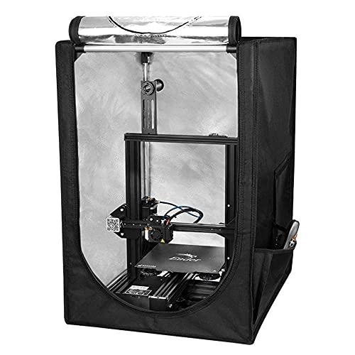 Fireproof and Dustproof 3D Printer Tents Warm Enclosure Constant Temperature Dust Cover for Ender 3 Ender 3 Pro 3D Printer 480x600x720mm-48 * 60 * 72cm