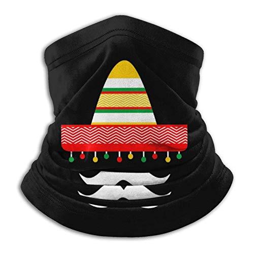 LisaArticles Headbands,Divertido Sombrero Mexicano De Cinco De Mayo, Diadema para Adultos, Pasamontañas Decorativos para El Cuello para Motociclismo, Esquí,26x30cm