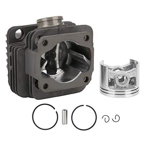 Conjunto de pistón de cilindro, cilindro de motosierra, resistencia al desgaste, Diámetro del pistón 40 mm, para motosierra de gasolina MS200 / MS200T