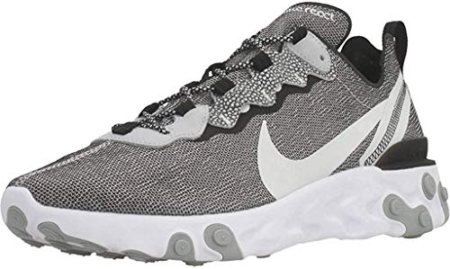 Nike React Element 55 Se, Running Shoe Mens, Blanco/Platino Puro/Gris Lobo/Negro, 45...