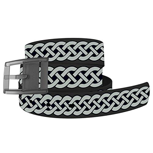 C4 Design Belt - Celtic Knot with Grey Buckle - Fashion Waist Belt for Women and Men