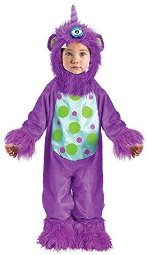 Fancy Me Baby Kleinkind Mädchen Jungen blau oder lila Halloween Monster Verkleidung Kostüm Kleidung 12-24 Monate - Lila, 6-12 Months