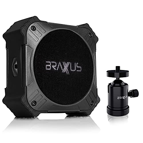 Braxus Ridge-XR Outdoor Portable Solar Bluetooth Speaker w/Magnetic Mount, IPX67...