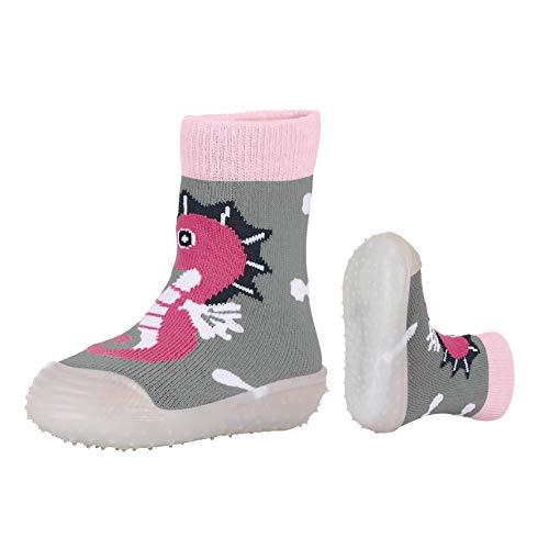 Sterntaler Mädchen Adventure-Socks Seepferdchen Aqua Schuhe, Grau (Silber Mel. 542), 19/20 EU