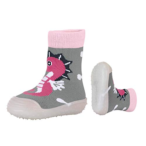 Sterntaler Mädchen Adventure-Socks Seepferdchen Aqua Schuhe, Grau (Silber Mel. 542), 25/26 EU