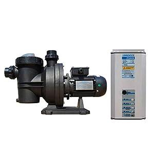 Bomba Depuradora de Piscina Solar con Controlador – Funciona con Energía Solar LORENTZ PS600 CS-17-1 + Controlador PS 600