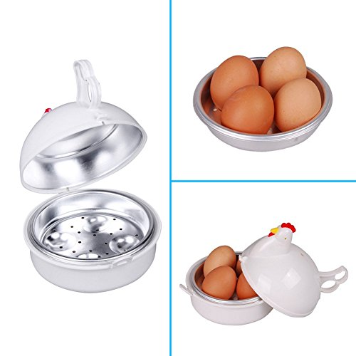 Bureze micro-ondes Pocheuse à 4 oeufs chaudière cuisinière Bouillie de poulet en forme de cuisson Cuisine Outil
