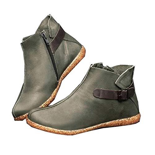 2019 New SANFASHION Bottes Courtes Femme,Casual à la Mode Boots Vintage Bottines Femmes Zippe,Sport Chaussures Bottes Baskets Montantes à la Cheville Doublure Anti-Odeurs Bottes Mode