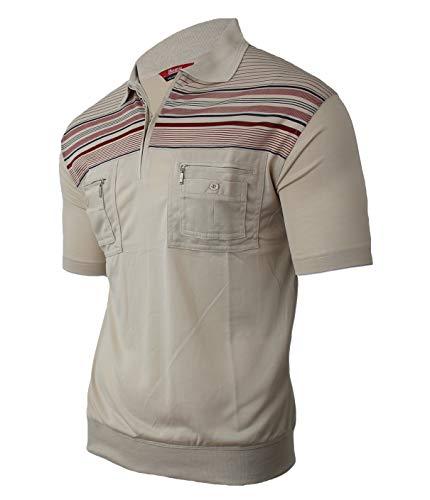 Soltice poloshirts voor heren, korte mouw, gestreept met borstzak, polohemden, blousonshirts van katoenmix (M tot 3XL)