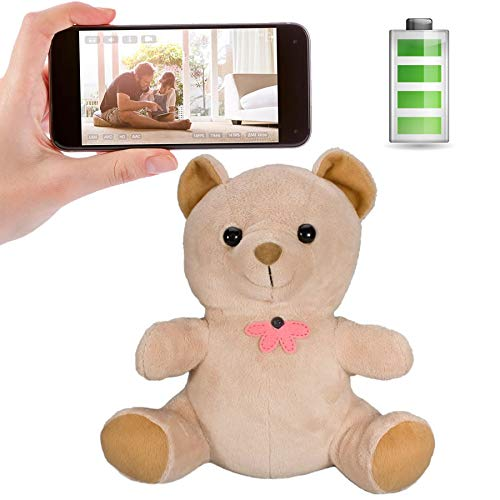 Read About Spy-Max SG Home CVR Teddy Bear Hidden Camera w/ 90-Day Standby Battery + WiFi Cloud Video...