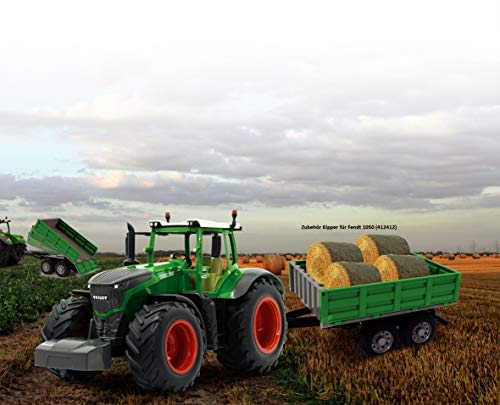 Jamara 405035 - Fendt 1050 Vario 1:16 2,4Ghz - RC Traktor, Motorsound (abschaltbar), Rückfahrwarnsound, Hupe, Abschaltfunktion, 2 Radantrieb, Gummireifen, Helle LED's vorne, Blinker, Demo Funktion