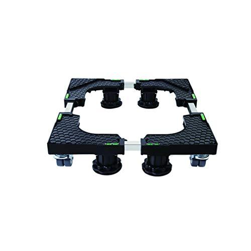 Base de la Lavadora del Refrigerador con 4 Ruedas Giratorias Ajustable Soporte para Nevera Secadora largo 48.2-60cm Ancho 44-53.5cm Movil Electrodomesticos carro (4 Pies 4 Ruedas)