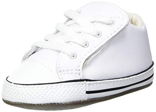 Converse Unisex Baby Chuck Taylor All Star Sneaker, White Natural Ivory, 20 EU