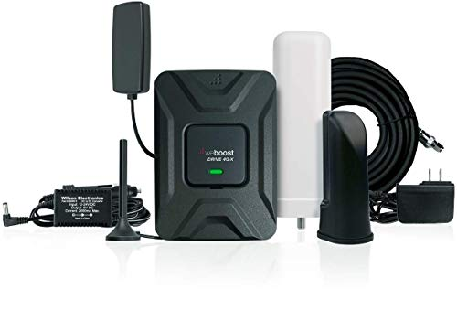 weBoost Drive 4G-X RV Cell Phone Signal Booster for RV or Motorhome, RV to Vehicle Bundle, Includes Mini Mag and in-Vehicle Server Antennas, AC/DC/CLA Power Supply. Boosts 4G/LTE/3G Signals