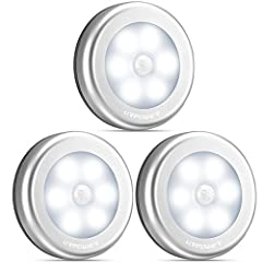 ENERGY-EFFICIENT:Automatically powers off after 15-30 seconds of inactivity, lighting your path as you cross and shutting off soon after. BATTERY POWERED:Powered by 3 x AAA batteries per motion sensor (batteries not included)Note:Batteries that are q...