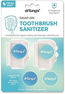 Dr. Tung's Snap on Toothbrush Sanitizer, Mint Flavor