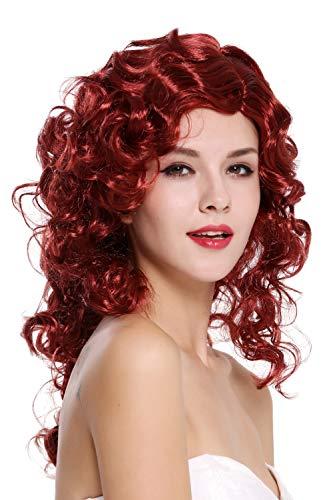 WIG ME UP- 0051-ZA14/ZA12 Peluca Mujer Carnaval Halloween Muy voluminoso rizos Rizado denso Rojo Mezcla Femme Fatale