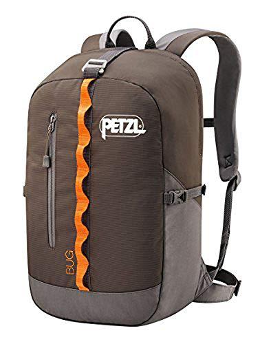 PETZL Adultos Mochila Bug, Color Gris - Gris, tamaño 32 × 21 × 1 cm, 18 Liter, Volumen Liters 18.0