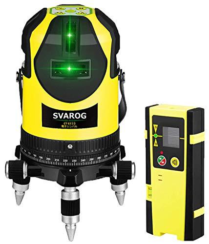 SVAROG レーザー墨出し器 フルラインレーザー HV-441G レーザーレベル フルライン照射モデル 高精度 高輝度 グリーンレーザー墨出し器 受光器対応 レーザー水平器 レーザー測定器 レーザー墨出器 緑色 墨だし器 自動補正 地墨ポイント 垂直 水