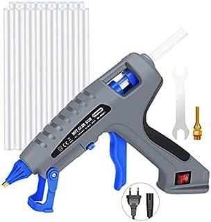 E·Durable Pistolet à Colle Chaude Pistolet en silicon de 200 W, avec 15 pièces de 19 cm de contrôle de température automat...