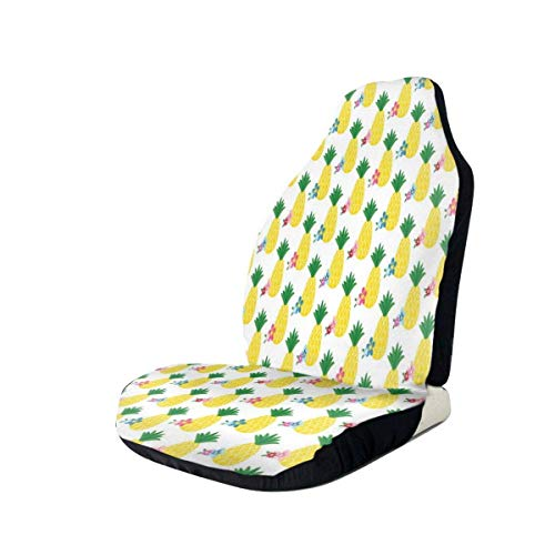 heefan Summer Pineapple Fruit Car Seat Cover Car Cushion Cover Compatible with Most Car Car Interior Accessories Seat Cover