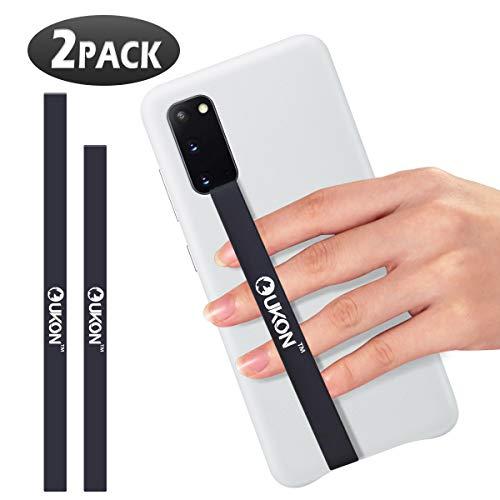 UKON 2 PCS Silikon Stretching Handschlaufe Rutschfester Telefongriffhalter für die Meisten Smartphone Hüllen Praktische Sichere Silikon Stretching Handschlaufe (200+230mm)
