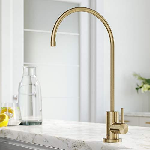 Kraus FF-100SFACB Purita 100% Lead Kitchen Water Filter Faucet, Spot Free Antique Champagne Bronze