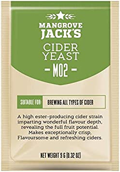 Levadura de sidra 9 g/25 l – Mangrove Jack's M02 – Levadura para hacer vino, sidra – Serie Craft