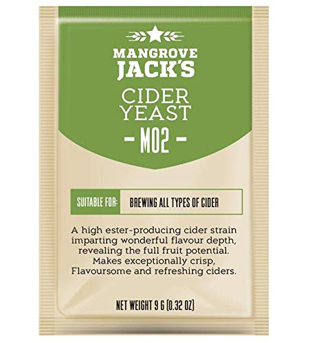 Apfelwein Hefe 25L - Mangrove Jack's M02 - Aphelweinhefe | Trocken-Hefe | Ciderhefe | Reinhefe | Weinhefe | BirneWein Hefe | Bier Hefe