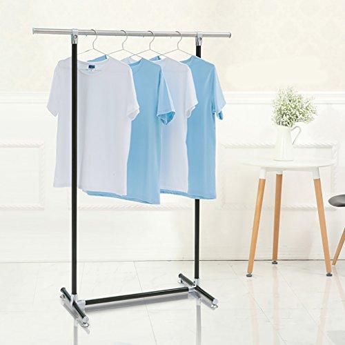 Tendedero para secar la ropa, tendedero para balcones en el piso, barra para estante para colgar en el interior, ropa sencilla con varillas simples ( Color : A )