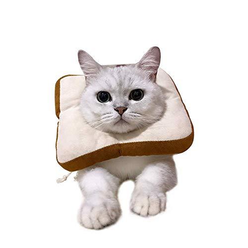 USAMS Schutzkragen für Katze, Katzen Halskrause Verstellbar Weich Soft Anti Biss Safty Kragen Wundheilung Halskragen für kleine Haustiere (Toast)