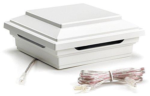 LED Post Cap Light- Square Style, Classic White, WTSQLEDCAP4X4C