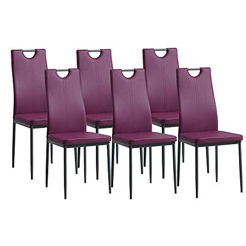Sillas De Comedor Set 6 Tela sillas de comedor set 6  Marca Albatros