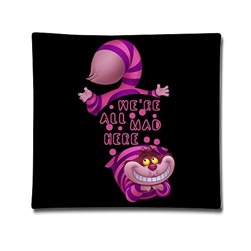 McBr A In Wonderland Kissenbezug, Motiv: Grinsekatze aus 100 % Baumwolle, dekorativer Kissenbezug zum Lesen