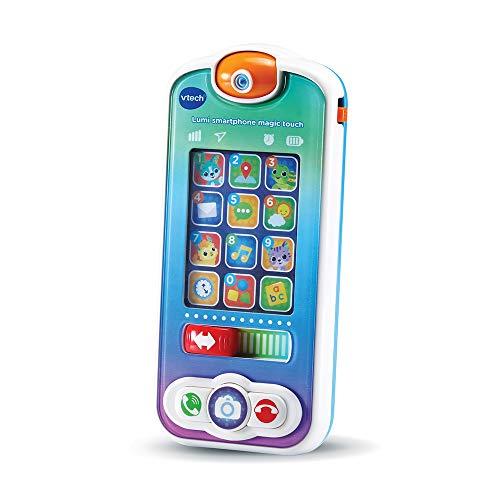 VTech - Lumi Smartphone Magic Touch – Jouet Téléphone Bébé / 1-3 Ans – Version FR